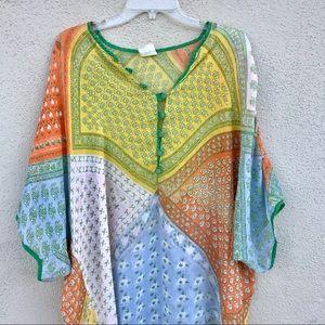 Vintage KAFTAN maxi dress mumu cover up TUNIC LONG